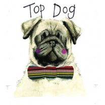 Alex Clark Top Dog Large Sparkle Card