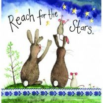 Alex Clark Reach For The Stars Large Sparkle Card