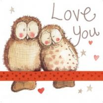 Alex Clark Love You Large Sparkle Card