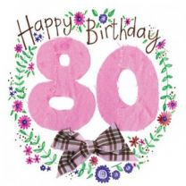 Alex Clark Happy 80th Birthday Large Sparkle Card