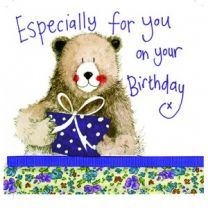 Alex Clark Especially for you on your Birthday Large Sparkle Card