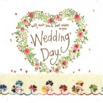 Alex Clark Wedding Day Large Sparkle Card