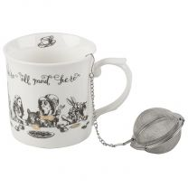 Alice In Wonderland Palace Fine China Mug & Infuser by Creative Tops