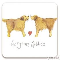 Gorgeous Golden Retriever drinks coaster by Alex Clark