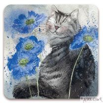 Cornflowers drinks coaster by Alex Clark