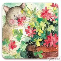 Polly Cat drinks coaster by Alex Clark