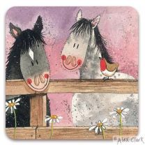Horse Whispers drinks coaster by Alex Clark