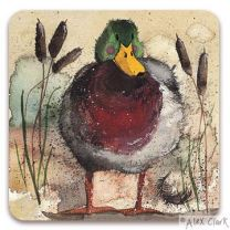 Mallard Drinks coaster by Alex Clark
