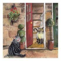 Alex Clark Cats Chorus II Mini Print