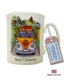Bean Caravanning Mug with camper van image