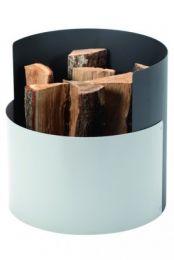 Dixneuf Crocus Log Holder - Grey & Aluminium contrast