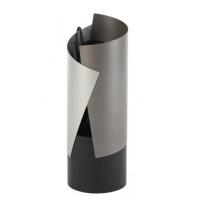 Crescendo Contemporary Firetools in Grey, Aluminium & Black
