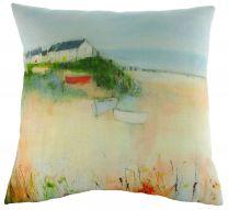 Sue Fenlon Harbour Boats Cushion - Seaside Cushion
