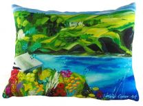 The Cove Cushion - Print by Natalie Rymer