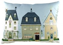 Autumn Houses cushion by Sally Swanell