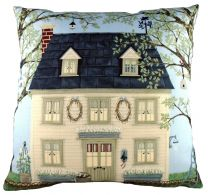 Country House Cushion by Sally Swanell