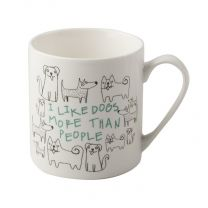 I Like Dogs Fine China Can Mug by Creative Tops.