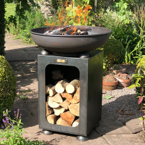 Firebowl with Log Store