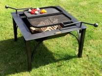 Firepits Firebox D with Barbecue swing arm
