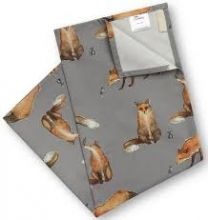 fox and mouse tea towel
