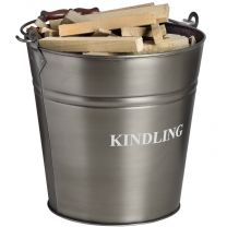 Antique Pewter Kindling Bucket