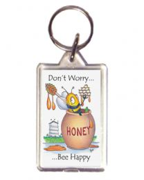 Don't Worry Honey Keyring