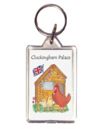 Cluckingham Palace Keyring - Chickens