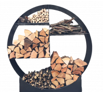 Steel Large Round Log Store