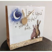 Love You To The Moon And Back Large Gift Bag by Alex Clark
