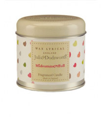 Julie Dodsworth Midsummer Ball Candle Tin by Wax Lyrical