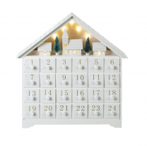 Parlane White Advent with LED Lights - Christmas Village Scene