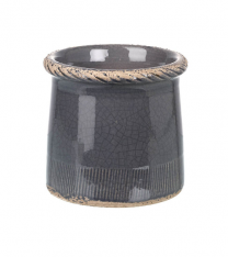 Parlane Compton Pot in Dark Gray - Small