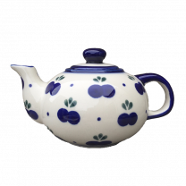 Small Blueberry Patterned Teapot by Boleslawiec