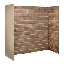 Ceramic Brick Bond Chamber Red 3 piece