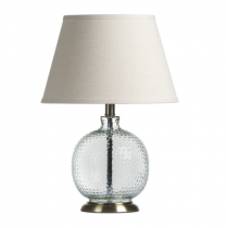 Rimini Glass Table Lamp with shade