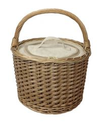 Round Willow Chiller Basket in an antique wash finish