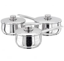 Stellar 1000 3pc Saucepan set - includes 16, 18 and 20cm saucepans with lids