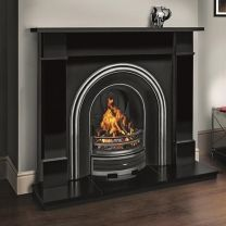 Flat Victorian Mantle in black granite