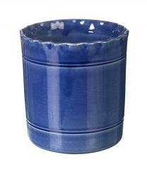 Miel Blue Handmade Utensil Pot by Parlane - 140mm x140mm