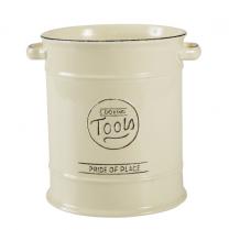 Large Utensil Jar in old cream