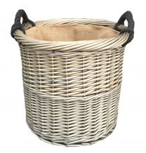 Medium Antique Wash Round Basket