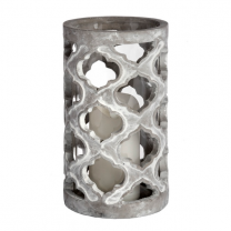 Large Stone Effect Patterned Candle Holder