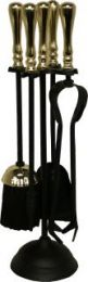 Calfire Black & Brass Traditional Top Round Base Companion Set small