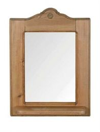 Penny Pine Mirror with Shelf