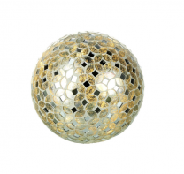 Parlane Mosaic Silver Glass Globe Light