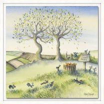 Catherine Stephenson Bunny Games (1) Framed Canvas Print