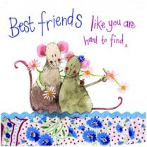 Alex Clark Best friends like you are hard to find Large Sparkle Card