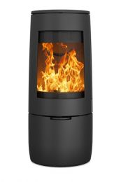 Dovre Bold 400 Stove Matt Black on Storage Base
