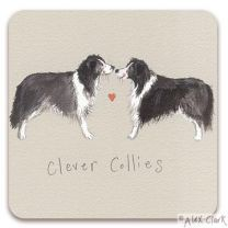 Clever Collies drinks coaster by Alex Clark