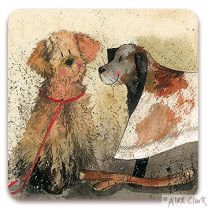 'Mud' Dogs drinks coaster by Alex Clark